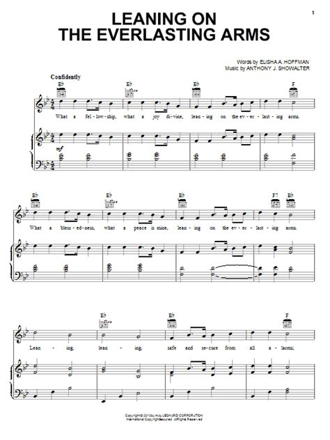Leaning Of The Everlasting Arms Tenor Sax  music sheet