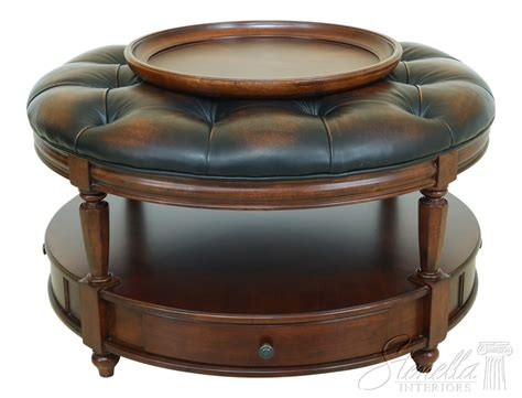 leather coffee table ottoman eBay