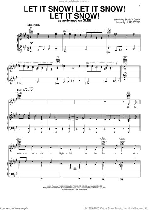 Let It Snow Let It Snow Let It Snow Vocal Solo  music sheet