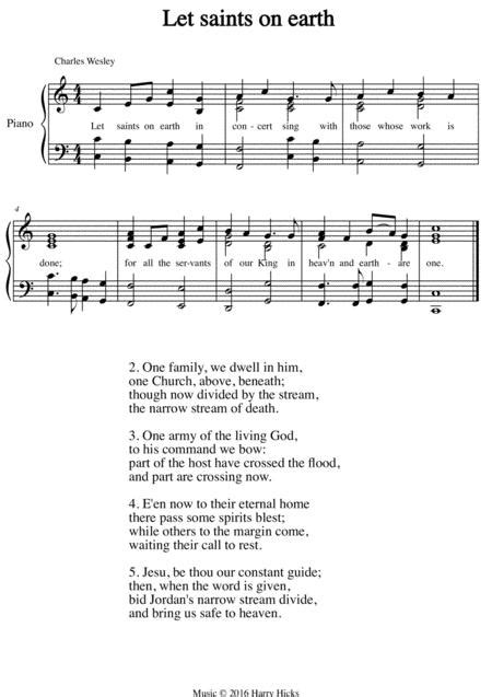 Let Us Join A New Tune To Wonderful Wesley Hymn  music sheet