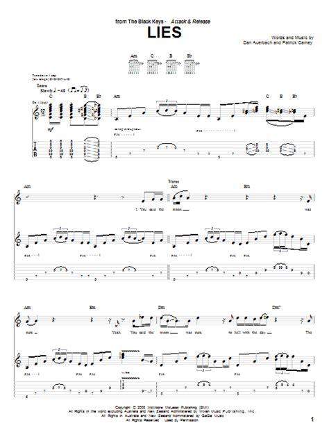 Lies  music sheet