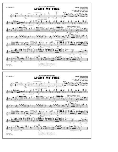 Light My Fire Arr Paul Murtha Flute Piccolo  music sheet