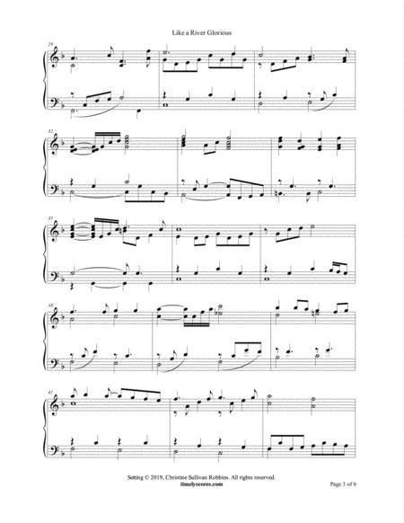 Like A River Glorious With Air From Handels Water Music  music sheet