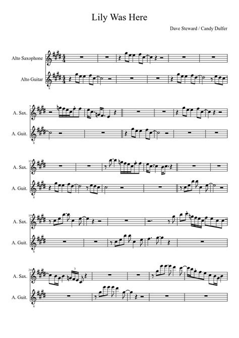 Lily Was Here  music sheet