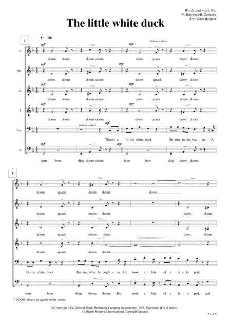 Little White Duck Saatbb A Cappella  music sheet