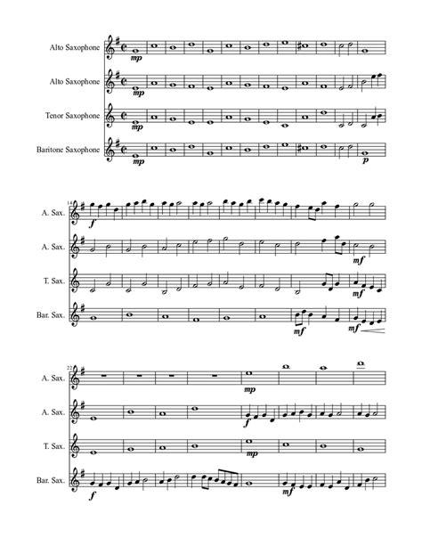 Longer For Saxophone Quartet And Piano  music sheet