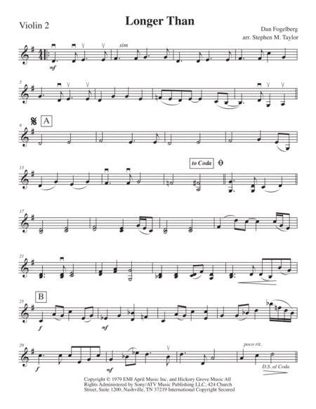 Longer Longer Than For String Quartet  music sheet