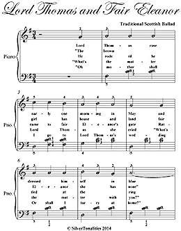 Lord Thomas And Fair Eleanor Easy Elementary Piano Sheet Music  music sheet