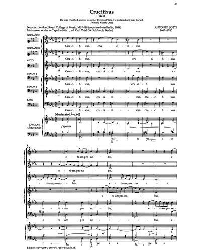 Lotti Crucifixus A 6 For Male Voice Choir Mp3  music sheet
