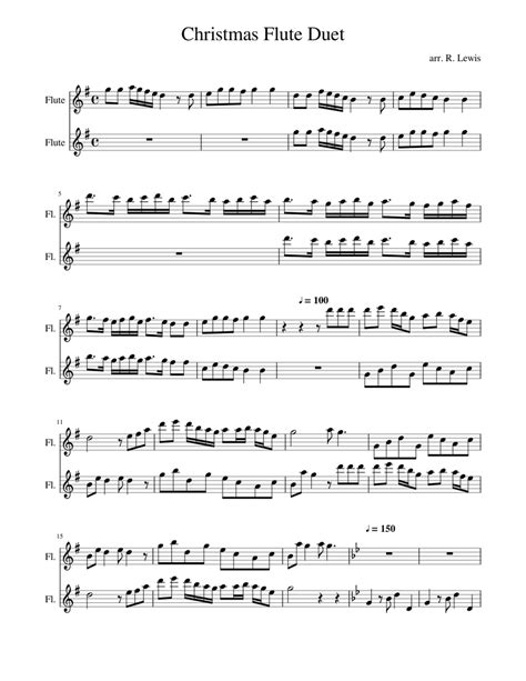 Love At Christmas For Two Flutes And Piano  music sheet