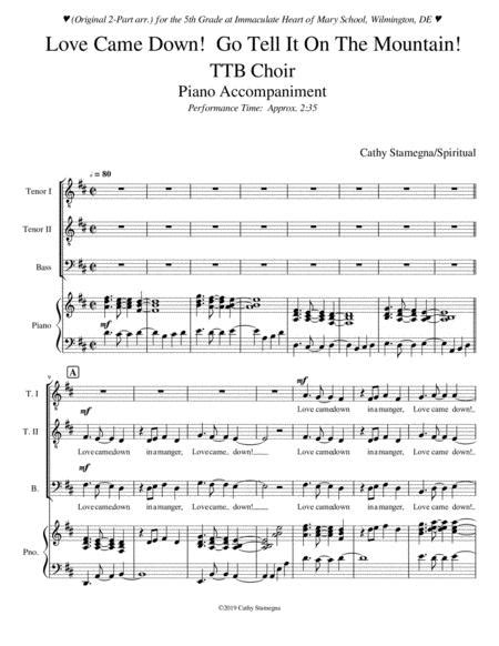 Love Came Down Go Tell It On The Mountain Tenor Bass Solo  music sheet