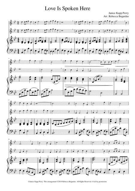 Love Is Spoken Here  music sheet