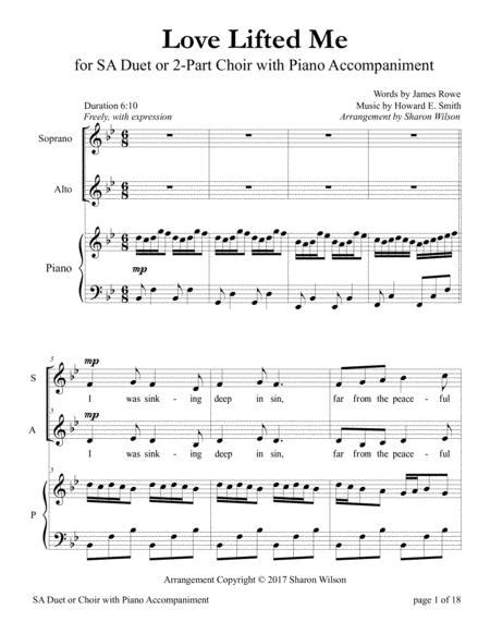 Love Lifted Me For Sa Duet With Piano Accompaniment  music sheet