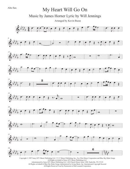 Love Theme From Titanic Original Key Tenor Sax  music sheet