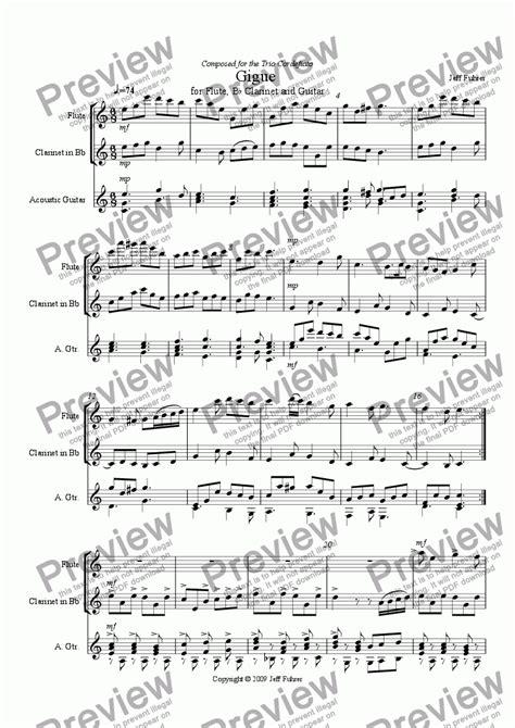 Lucs Gigue Clarinet Quartet Version  music sheet