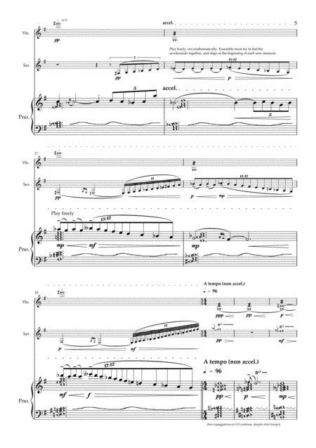 Luna For Violin Alto Saxophone And Piano  music sheet