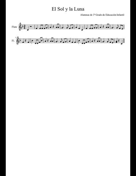 Luna Y Sol  music sheet