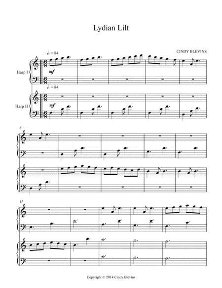 Lydian Lilt An Original Lap Harp Duet  music sheet