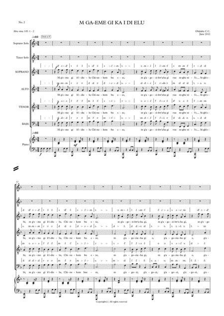M Geme Gi Ka I Di Elu  music sheet