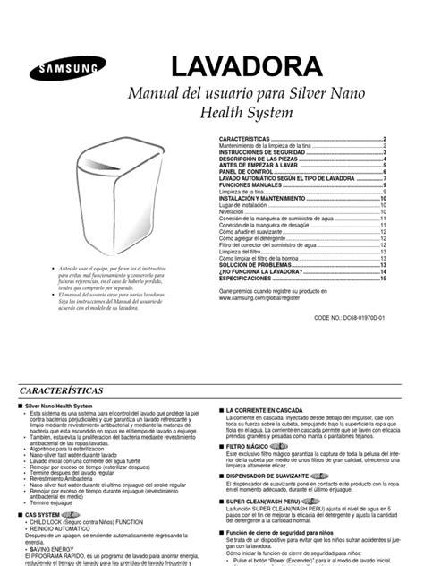 free download ebooks Manual Lavadora Samsung Wa17x7r.pdf