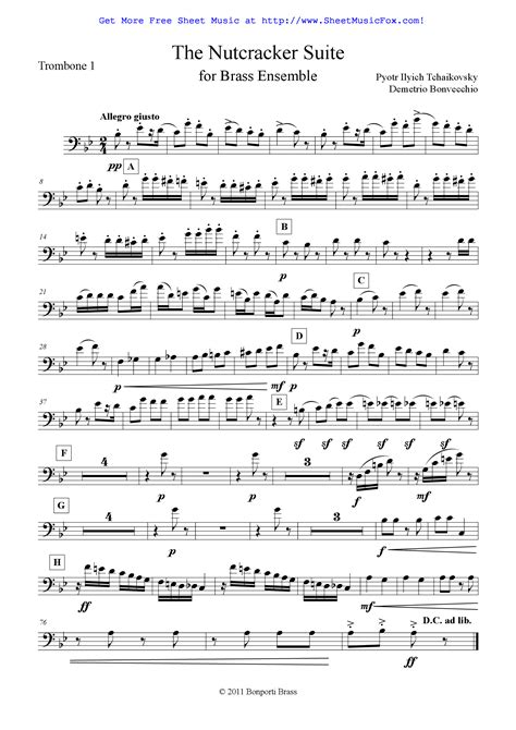 March From The Nutcracker Suite music sheet