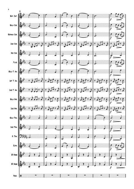 Mascagnis Intermezzo From Cavalleria Rusticana For Soprano Cornet And Brass Band  music sheet