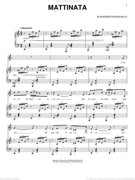 Mattinata For Guitar Piano  music sheet