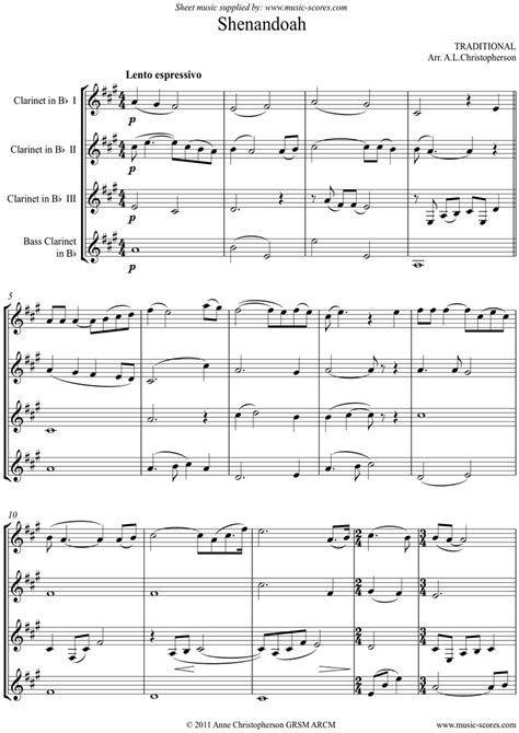 May It Be For Clarinet Quartet  music sheet