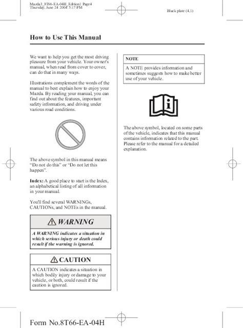 free download ebooks Mazda 2005 User Manual.pdf