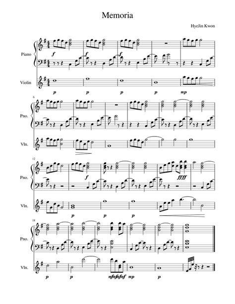 Memria Oblit  music sheet