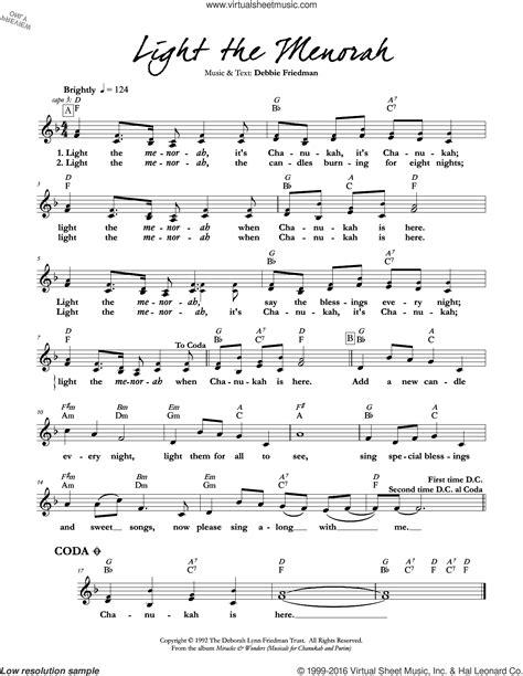 Menorah Lights  music sheet