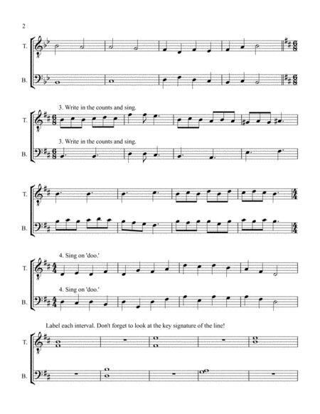 mens choir sight reading book 2 music sheet