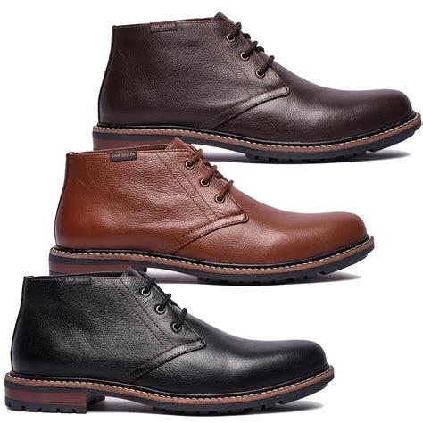 mens leather chukka boot eBay