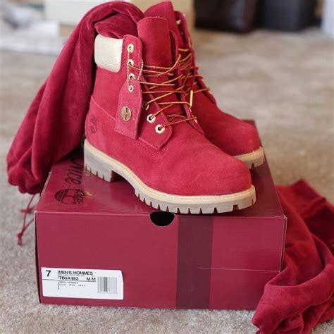 mens red boots eBay