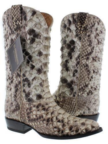 mens snakeskin boots eBay