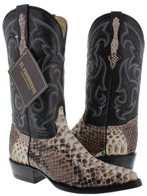 mens snakeskin cowboy boots eBay