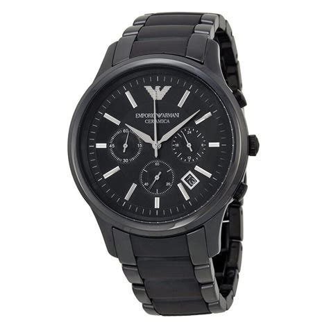 mens watch chronograph black eBay