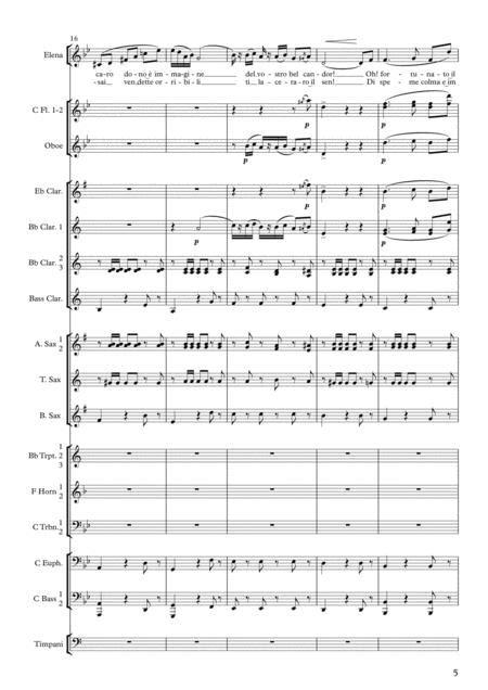 Merc Dilette Amiche From I Vespri Siciliani Atto V For Voice And Concert Band  music sheet