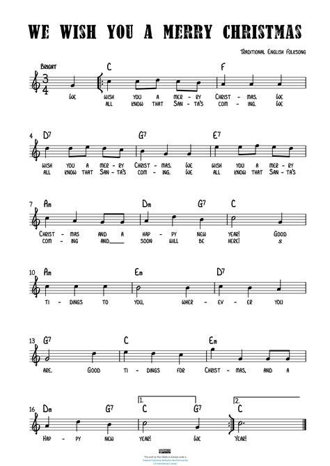 Merry Christmas  music sheet