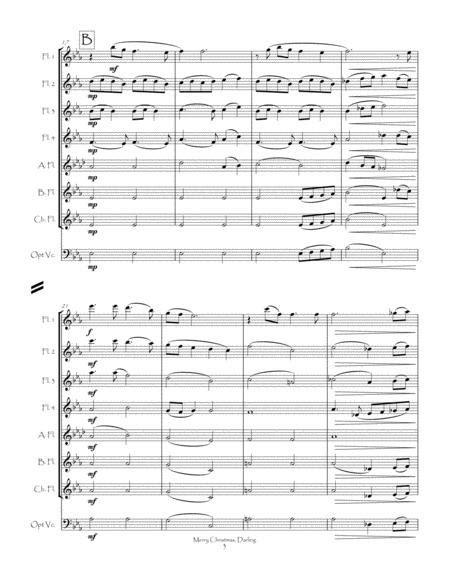 Merry Christmas Darling For Flute Choir  music sheet