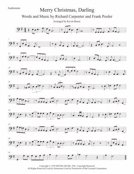 Merry Christmas Darling Original Key Euphonium  music sheet