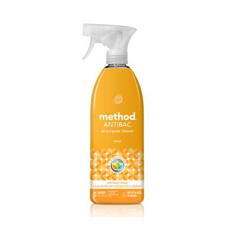 method antibacterial cleaners