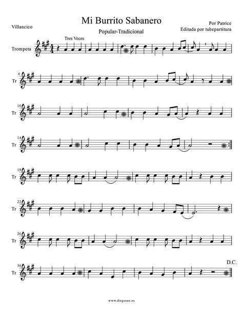 Mi Burrito Grande  music sheet