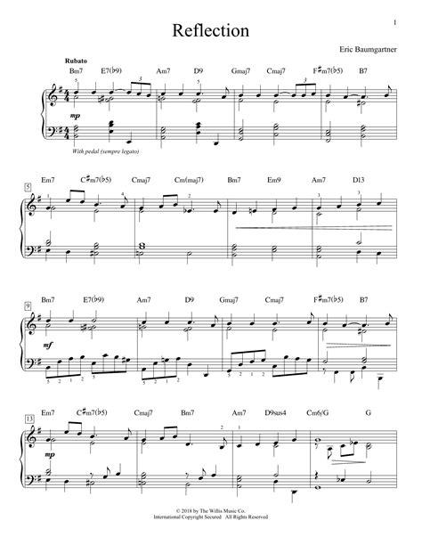 Midnight Reflections  music sheet