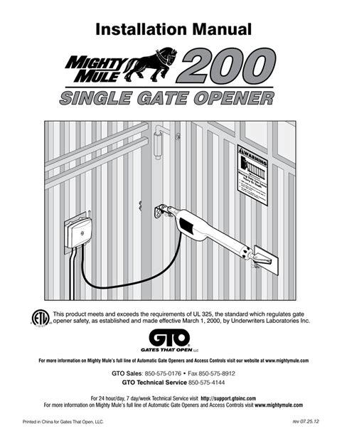 free download ebooks Mighty Mule 200 Manual.pdf