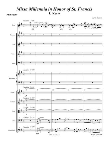 Missa Millennia In Honor Of St Francis Full Score Satb  music sheet