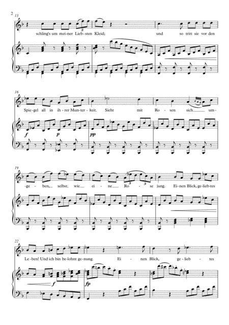 Mit Einem Gemalten Band F Major  music sheet