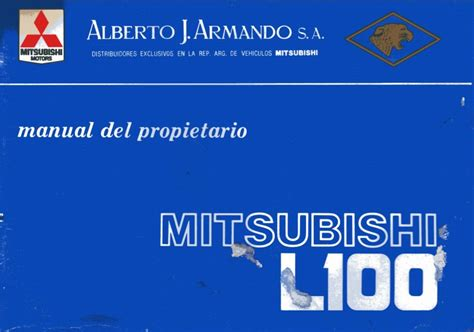 free download ebooks Mitsubishi L100 Manual.pdf