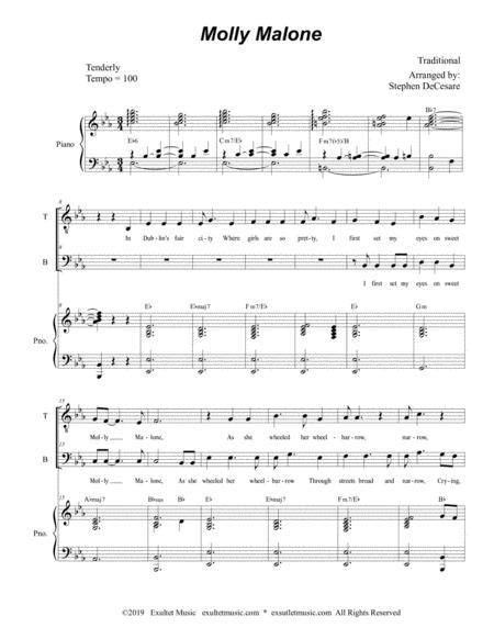 Molly Malone For 2 Part Choir Tb  music sheet