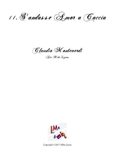 Monteverdi Second Book Of Madrigals No 11s Andasse Amor A Caccia  music sheet